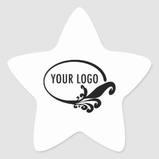 Star Product Label Stickers Company Logo