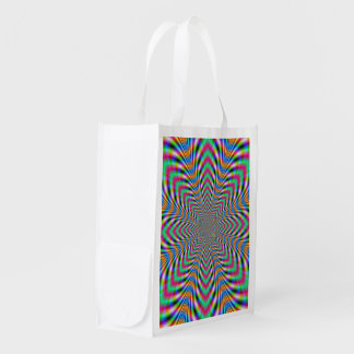 Star Psychedelic Reusable Grocery Bag