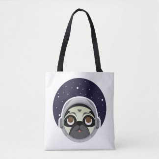Star pug tote bag