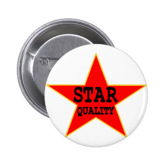 Star Quality 6 Cm Round Badge