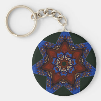 Star Quilt Key Ring