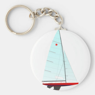 star  Racing Sailboat onedesign Olympic Class Key Ring