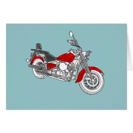 Star Red Bike Card