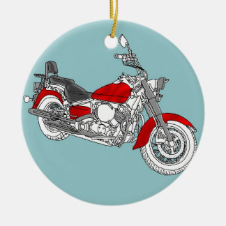 Star Red Bike Christmas Ornament
