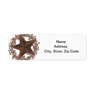 Star Return Address Label