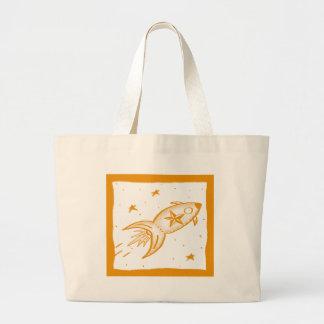 Star Rocketship Orange - Bags
