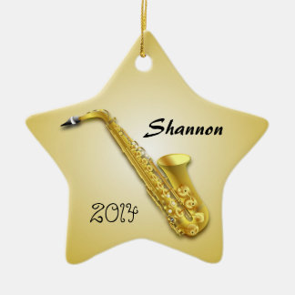 Star Saxophone Player's Personalized Ornament