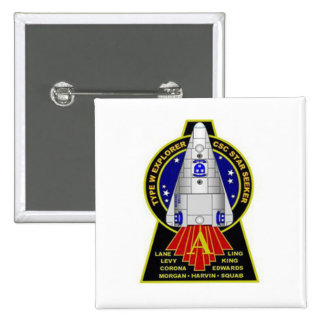 Star Seeker Square Button - Mission Alpha