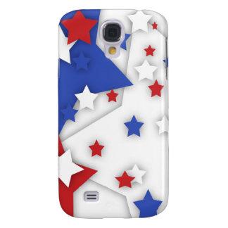 Star Shadow Bright Red White Blue Galaxy S4 Galaxy S4 Case