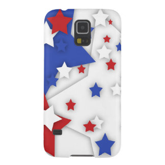 Star Shadow Bright Red White Blue Galaxy S5 Galaxy S5 Cases