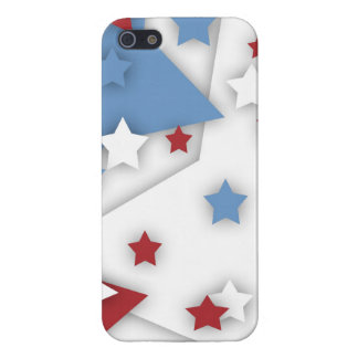 Star Shadow Red White Blue iPhone 5 5S Case For iPhone 5/5S