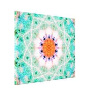 Star-Shaped Mandala Canvas Print