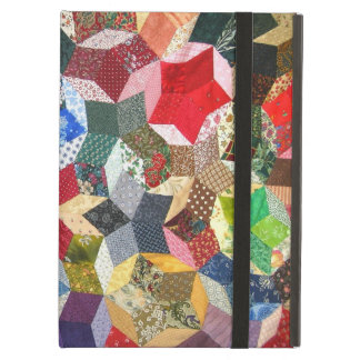 Star shaped quilt iPad case