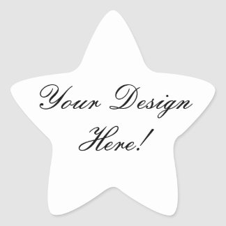 Star Shaped Wedding Favour Stickers