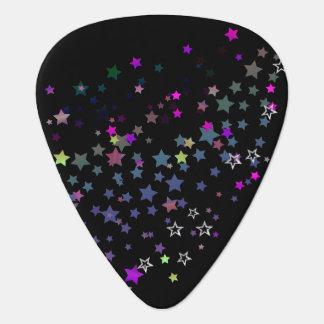 Star Shine Party Stars, black Plectrum