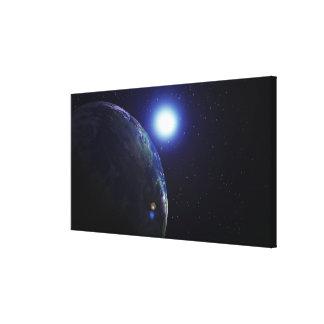 Star shining on Earth Canvas Print