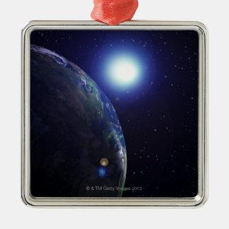 Star shining on Earth Christmas Ornament