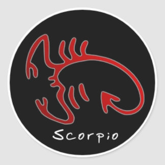 Star sign Sticker, Scorpio Classic Round Sticker