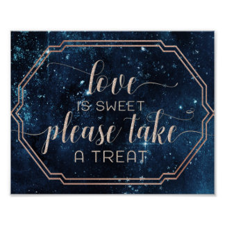 Star Sky Celestial Galaxy Love is Sweet Treat Poster