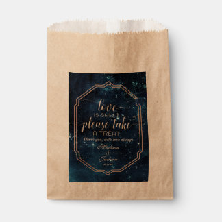 Star Sky Celestial Galaxy Wedding Love is Sweet Favour Bags