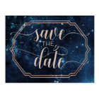 Star Sky Celestial Galaxy Wedding Save the Date Postcard