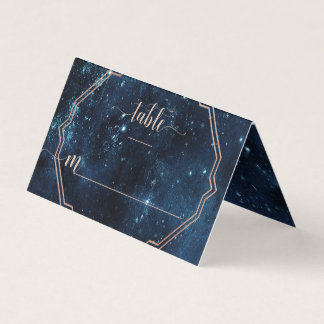 Star Sky Celestial Galaxy Wedding Table Number Place Card