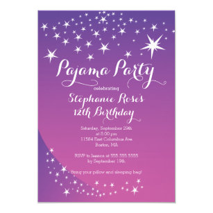 sleepover invitations announcements zazzle uk
