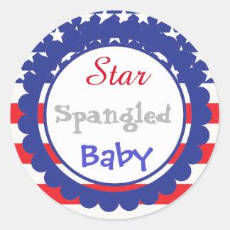 Star Spangled Baby Shower Sticker