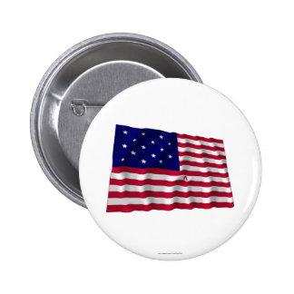 Star Spangled Banner 6 Cm Round Badge