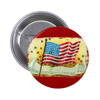 Star Spangled Banner American Flag Button