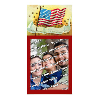 Star Spangled Banner American Flag Photo Card