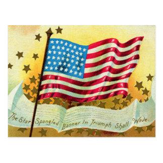 Star Spangled Banner American Flag Postcard