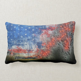Star Spangled Banner Lumbar Cushion