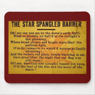 Star Spangled Banner Magic Lantern Slide Mouse Pad