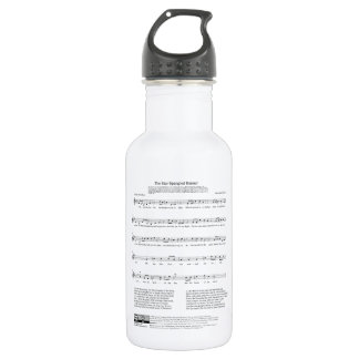 Star-Spangled Banner National Anthem Music Sheet 532 Ml Water Bottle