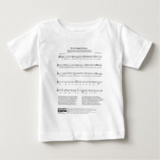 Star-Spangled Banner National Anthem Music Sheet Baby T-Shirt