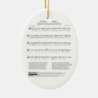 Star-Spangled Banner National Anthem Music Sheet Ceramic Oval Decoration