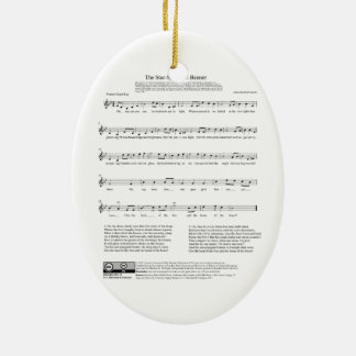 Star-Spangled Banner National Anthem Music Sheet Christmas Ornament