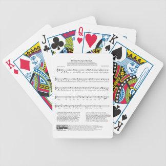 Star-Spangled Banner National Anthem Music Sheet Poker Deck
