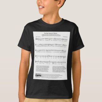 Star-Spangled Banner National Anthem Music Sheet T-Shirt