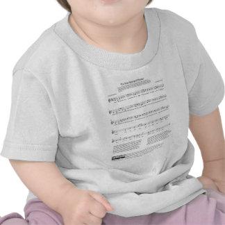 Star-Spangled Banner National Anthem Music Sheet Tshirt