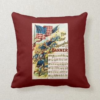 Star Spangled Banner Vintage Sheet Music Cushions