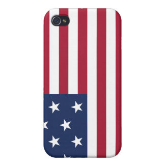 Star Spangled Banner With 13 Stars Covers For iPhone 4