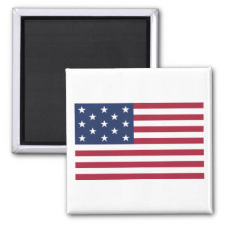 Star Spangled Banner With 13 Stars Square Magnet
