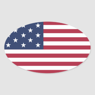 Star Spangled Banner With 13 Stars Oval Sticker