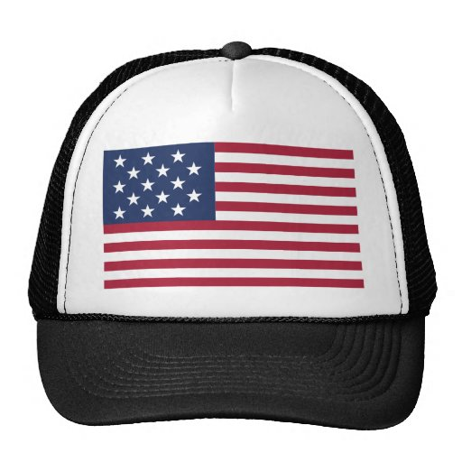 Star Spangled Banner With 15 Stars Mesh Hat