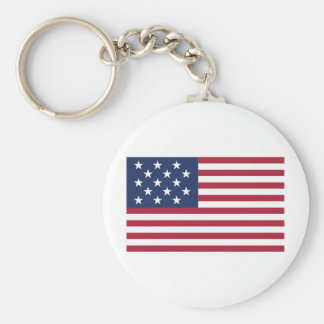 Star Spangled Banner With 15 Stars Keychain