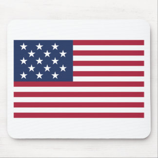 Star Spangled Banner With 15 Stars Mouse Pad
