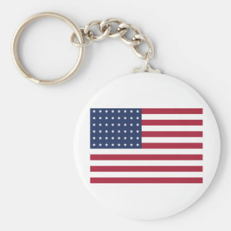 Star Spangled Banner With 48 Stars Keychain