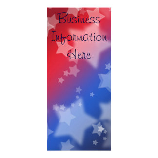 Star Spangled Bookmark Rack Card